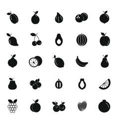 black fruits set vector image