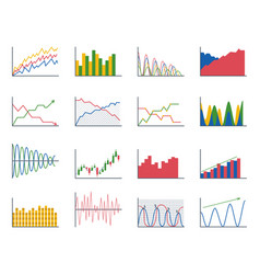 business data graph analytics elements bar pie vector image
