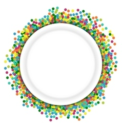Christmas background round frame from colourful vector image