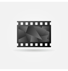 Dark cinema filmstrip logo vector image