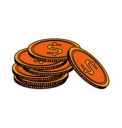 dollar coin icon image vector image