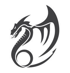 Dragon flat vector