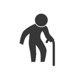 Grandfather old pictogram action male man vector