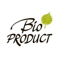 Hand-sketched typographic element bio product - vector