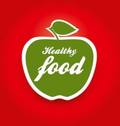 healthy food apple vector image