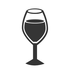 icon cup glass wine isolated vector image