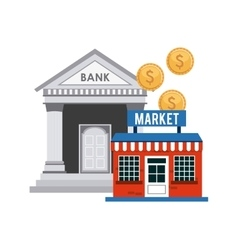 Investment in market isolated icon design vector