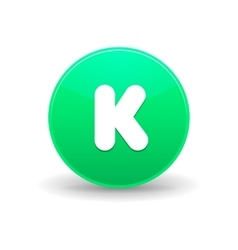 Kickstarter icon simple style vector