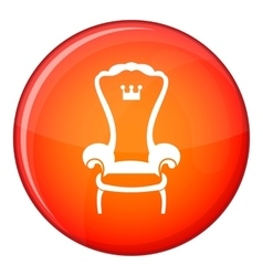 King throne chair icon flat style vector