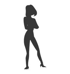 Lean woman icon vector
