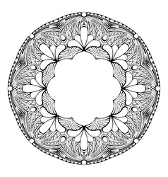 Mandala Ethnic decorative element Hand drawn vector image