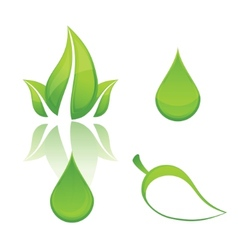 nature and eco green vector image