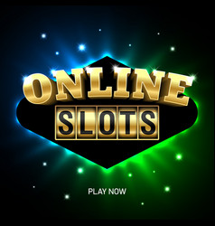 online slots casino banner play now vector image vector image