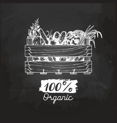 organic vegetables poster farm fresh eco vector image