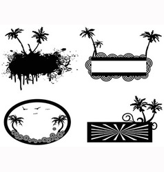 Palm tree frame vector