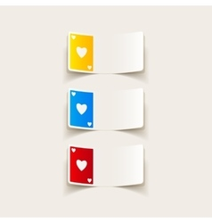 Realistic design element playing card vector