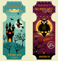 set of halloween backgrounds with bright vector image