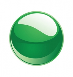 shiny sphere 02 green vector image