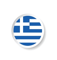 Sticker of greece flag in blue and white color vector