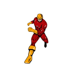 Super hero running retro vector