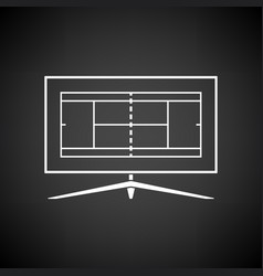 tennis tv translation icon vector image vector image