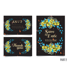 trendy card with roses for weddings save the date vector image vector image