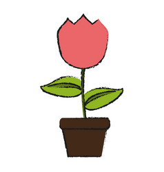 tulip flower icon image vector image vector image