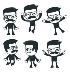 universal characters in different poses icon vector image vector image