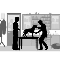 veterinary clinic vector image