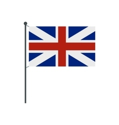 Uk flag icon flat style vector
