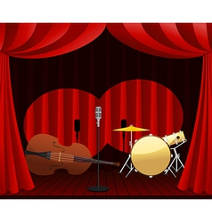 stage for Jazz show vector image