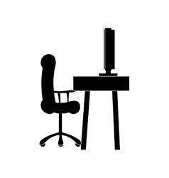Desk table icon image vector