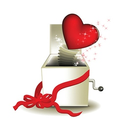 Valentine magic box vector