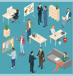 Isometric office vector