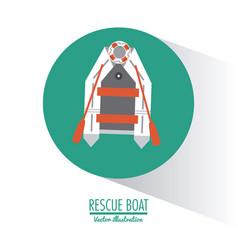 Boat nautical transportation design vector
