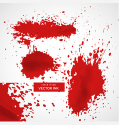 Abstract red ink splatter texture background vector