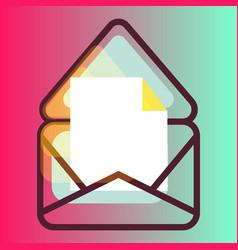 E-mail message gradient icon vector
