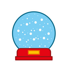 decorative crystal ball icon vector image