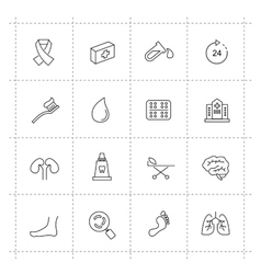 Medicine  heath care icons vector