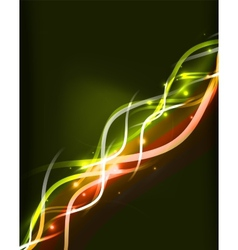 Neon glowing lines abstract background vector