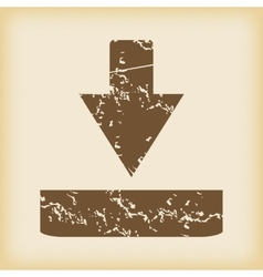 Grungy download icon vector