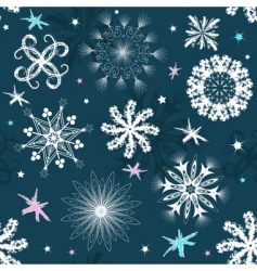 dark blue Christmas seamless pattern vector image