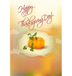 happy thanksgiving day with pumpkin vector image