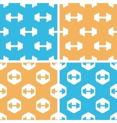 Barbell pattern set colored vector