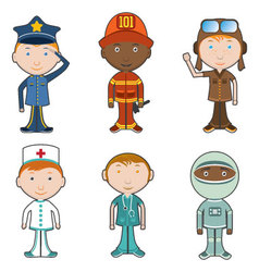 Occupation characters vector image