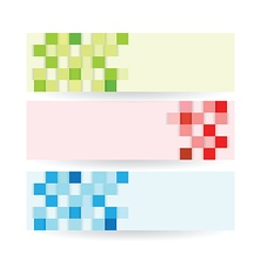 Banners squares set vector