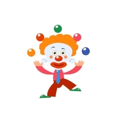 Clown juggling simplified isolated vector
