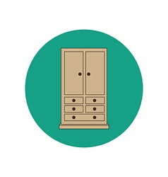 Armoire wardrobe vector