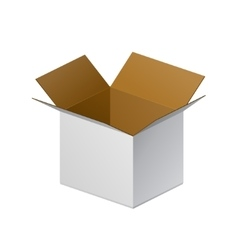 Carton package box open on white background vector