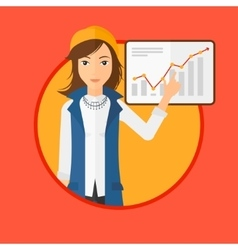 Woman making business presentation vector